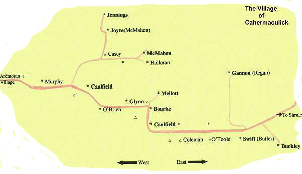map of Cahermaculick