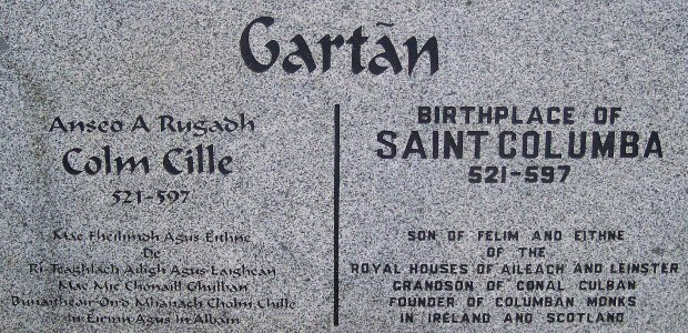 Plaque at Gartan
