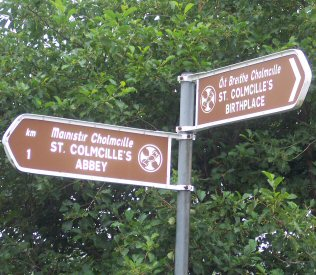 Direction to Columcille's abbey